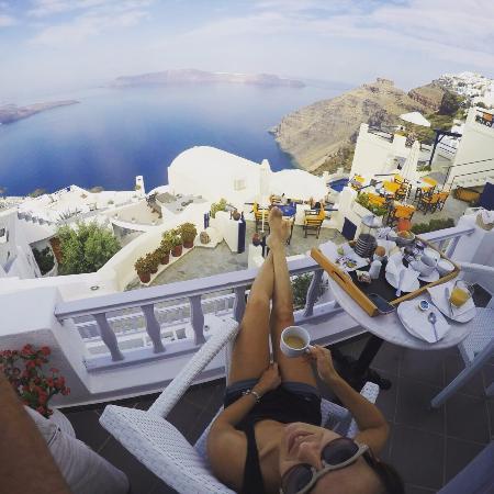 Santorini View: Panorama della camera durante la colazione