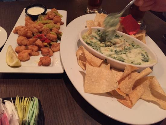 LaGrange, GA: Wild west Shrimp, Spinach/Artichoke Dip