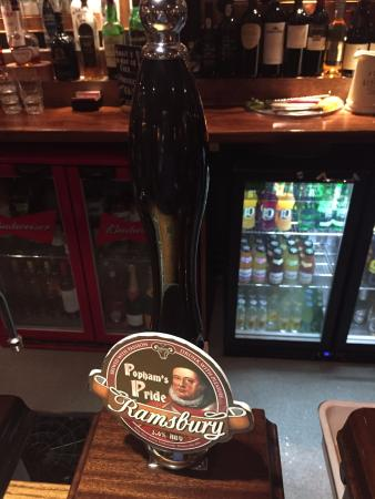 Froxfield, UK: A local brew in the bar