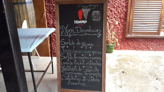 Arafo, España: снаружи меню