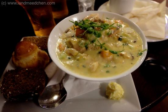 Ballycastle, UK: The best Clam Chowder in the World