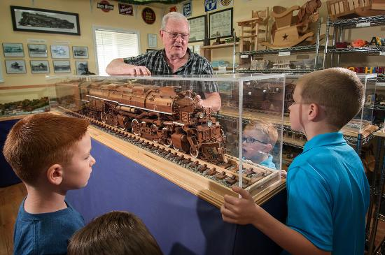 The Great American Steam Locomotive Museum and Cambridge Wooden Toy Co. in Cambridge, Ohio