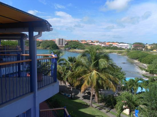 True Blue Bay Boutique Resort: Our room's balcony and view