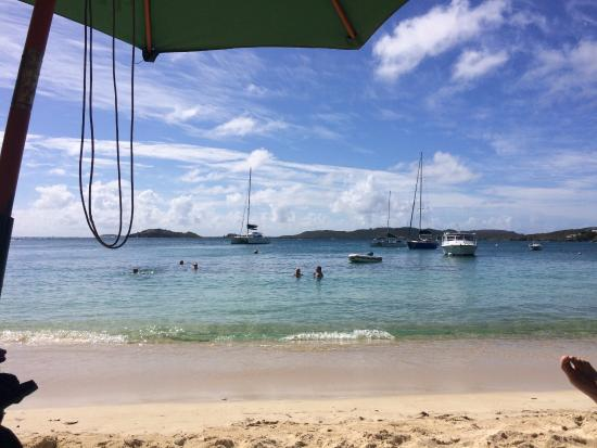 Benner, St. Thomas: View from the beach chairs