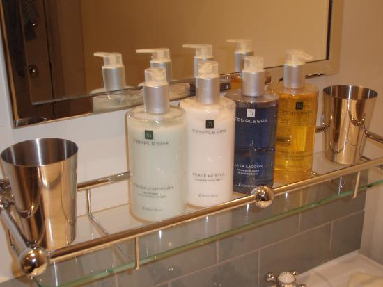 Baslow, UK: Hooked on the luxuriousTemple Spa toiletries