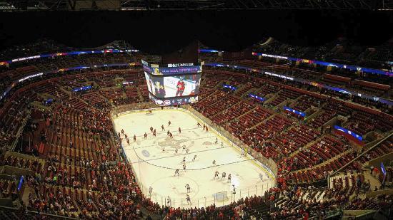 hockey game from the sky bar view picture of bb t center sunrise rh tripadvisor com ph