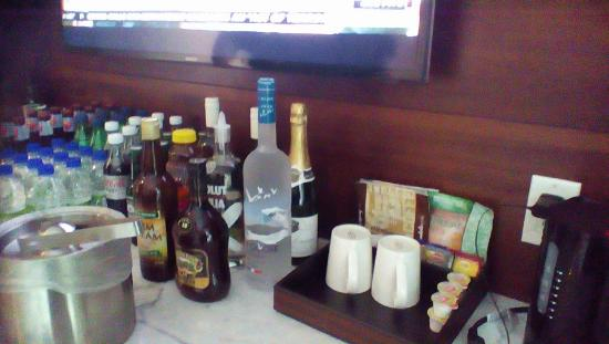 St. Lawrence Gap, บาร์เบโดส: Our PERFECT in room bar!!