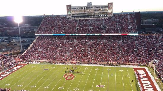 Oklahoma Memorial Stadium: View of the West side of the Stadium and Press Box