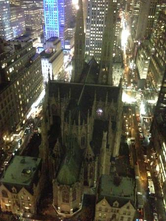 Night view of St Patricks Cathedral from Lotte