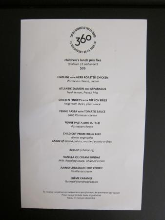 Calgary Tower Restaurant Prices