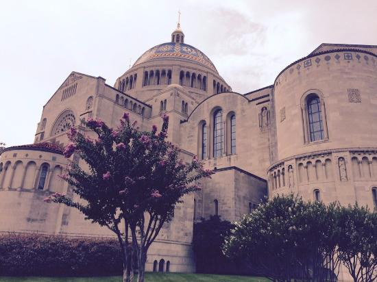 Basilica of the National Shrine of the Immaculate Conception: View from outside parking lot