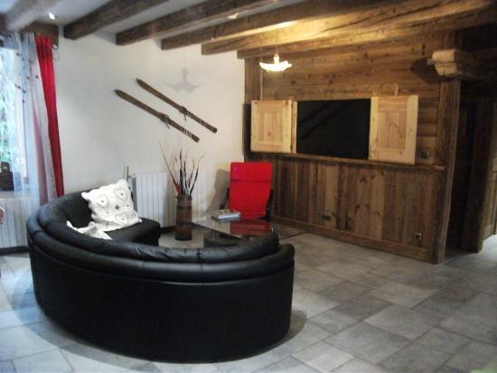 Vallouise, Francia: coin salon télévision