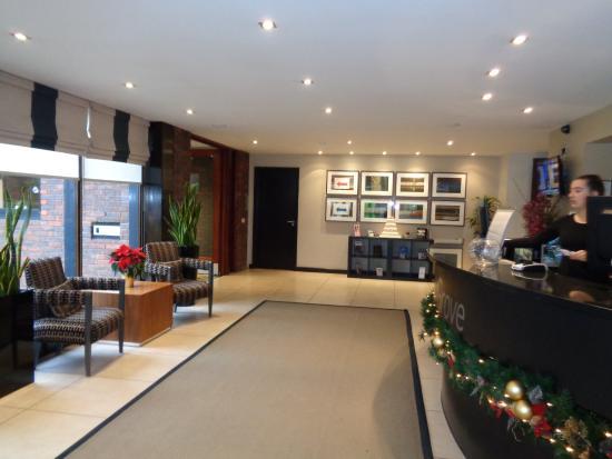 Denham, UK: Reception area