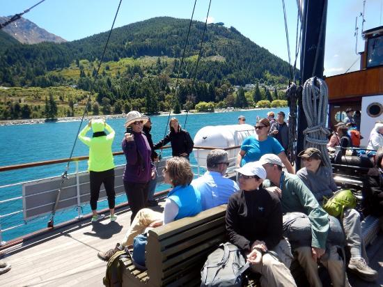 Queenstown, New Zealand: On the steamer