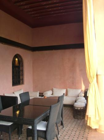 La piscine vue de l\'étage - Picture of Al Riad Inou, Marrakech ...
