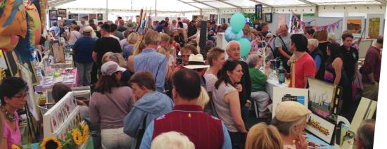 Art in the Park: Our hugely busy Main Marquee in 2015