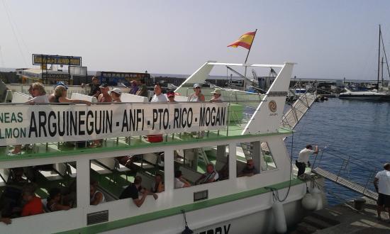 Cubierta fotograf a de lineas salmon water taxi mog n tripadvisor - Taxi puerto rico gran canaria ...