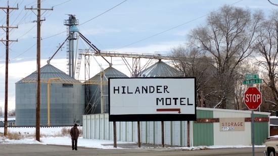 Grain silos near Hilander Motel, Mountain Home, Idaho
