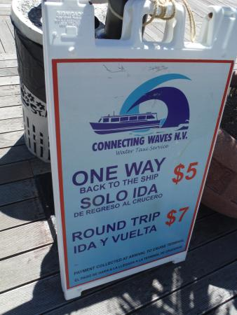 Wathey Square : WATER TAXI PRICES