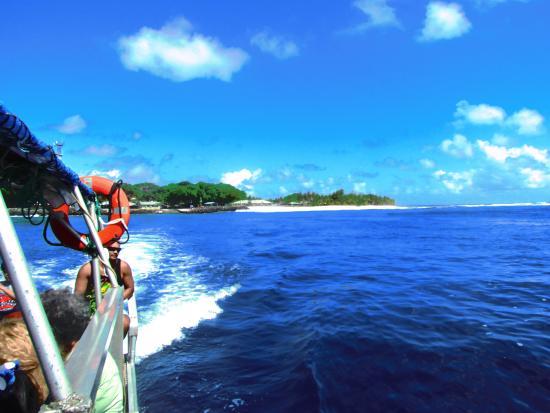 American Samoa: Water taxi ride to Aunu'u - Pua Tofaeono