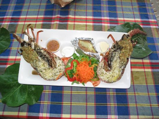 Harbour Queen Seafood Grill & Bar: Grilled Caribbean Lobster