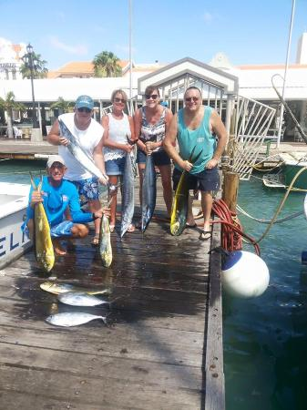 Group picture of ola sport fishing aruba oranjestad Fishing in aruba