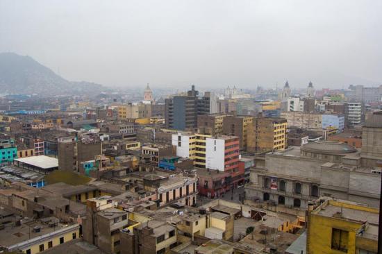 Pension Ibarra: Вид на центр с другого окна