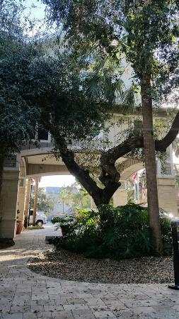 Hampton Inn New Smyrna Beach: The courtyard outside of the breakfast area