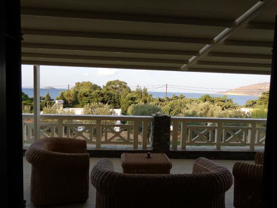 Aithra Apartments & Maisonettes: the wide sea-front terrace