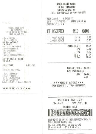 Coteau-du-Lac, Канада: $12.93 par Cricri