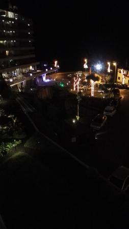 Weihnachtsbeleuchtung Für Balkongeländer.Blick Vom Balkon Westseite Abends Mit Weihnachtsbeleuchtung