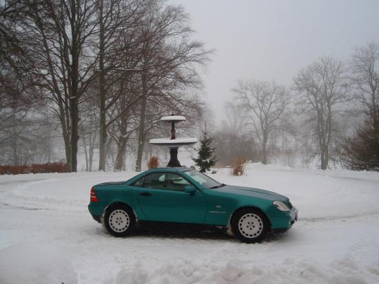 Genarp, Sverige: Borggården i den vackra slottsmiljön