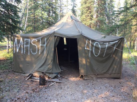 Tok, AK: M.A.S.H. tent