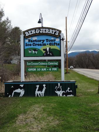 Waterbury, Vermont: sign