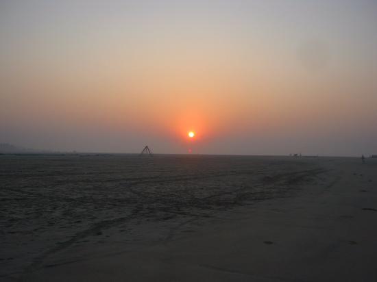 Mandarmani Beach: A beautiful sun set