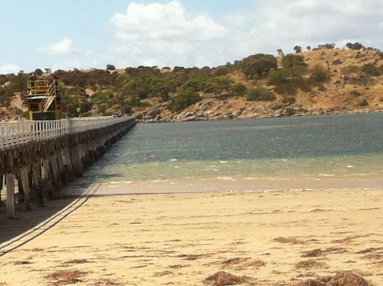 Hotel Victor: Bridge to Granite Island at 10am