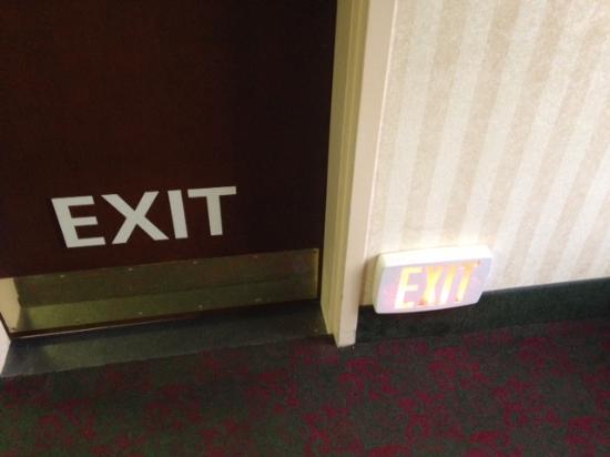 Hampton Inn Mt. Vernon: Good safety feature- exits marked at floor level