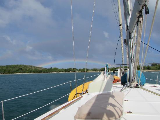 Caribbean Lady Charters: Rainbow after snorkeling