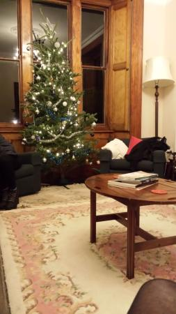 The Square House: Lounge at Christmas
