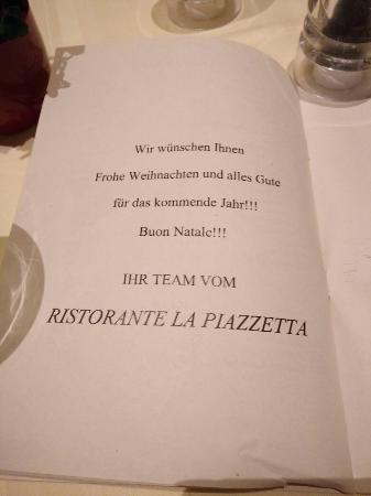 Schieder-Schwalenberg, Γερμανία: Restaurante la Piazzetta