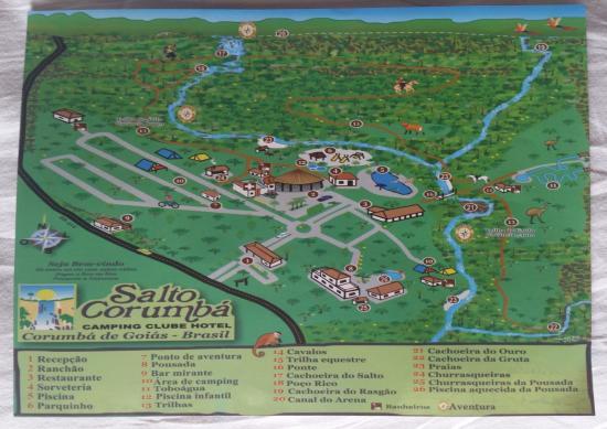 Mapa Da Propriedade Picture Of Salto Corumba Hotel Camping Clube