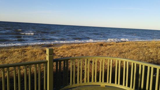 vue depuis la terrasse photo de au bois de mer sainte flavie tripadvisor. Black Bedroom Furniture Sets. Home Design Ideas