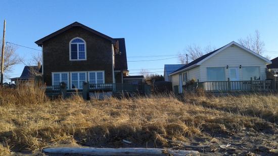 Sainte-Flavie, Kanada: Vue depuis la plage