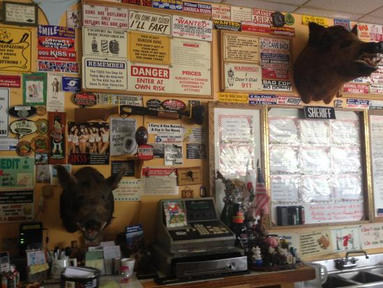 Tuto's Place: You're always being watched when you sit at the counter...