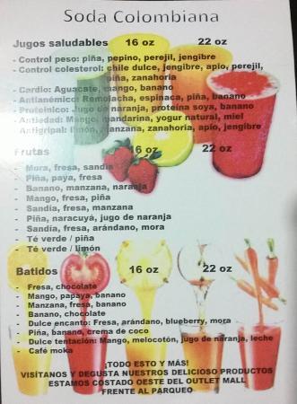 San Pedro, Costa Rica: menu 1
