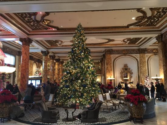 Christmas In San Francisco.Christmas Tree In The Lobby Picture Of Fairmont San