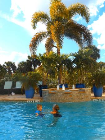 Hampton Inn & Suites Fort Myers - Colonial Blvd: Swimming at the pool