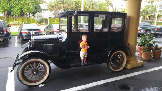 Comfort Inn Oceanside: My boy with the old Ford outside