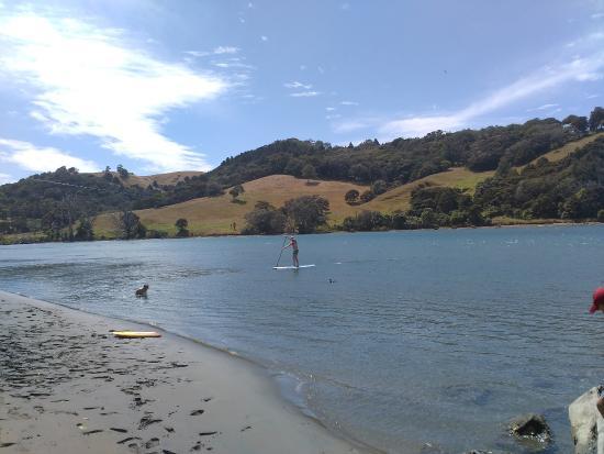 Waiwera, Nya Zeeland: Paddleboarding at Puhoi River
