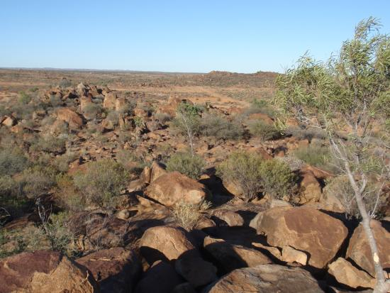 Tibooburra, Australia: View from the granite boulders at the camp site